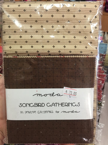 Songbird gatherings Charm Squares plus .5m