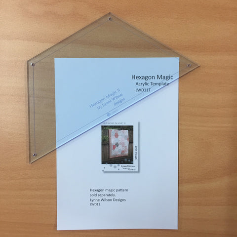 Hexagon Magic II Acrylic Template