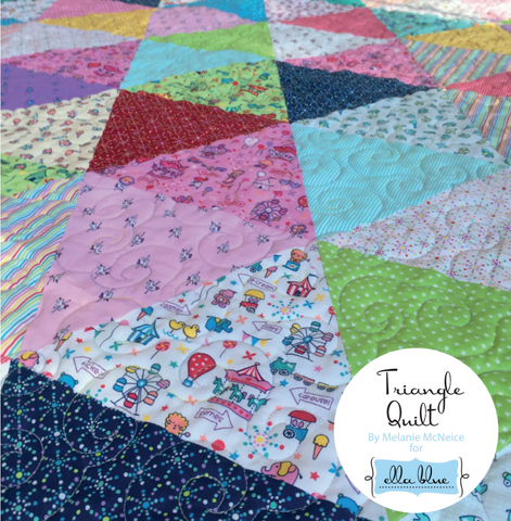 Mini Fun Fair Triangle Quilt