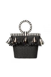 Eric Javits Happy Bag in Black & White
