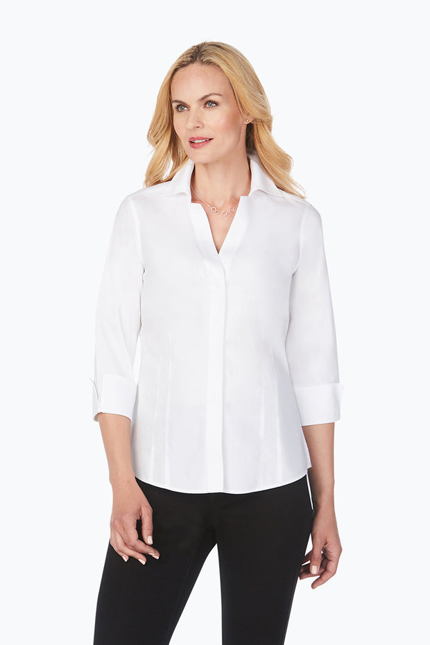 Foxcroft Taylor 3/4 Sleeve Blouse - available in multiple colors