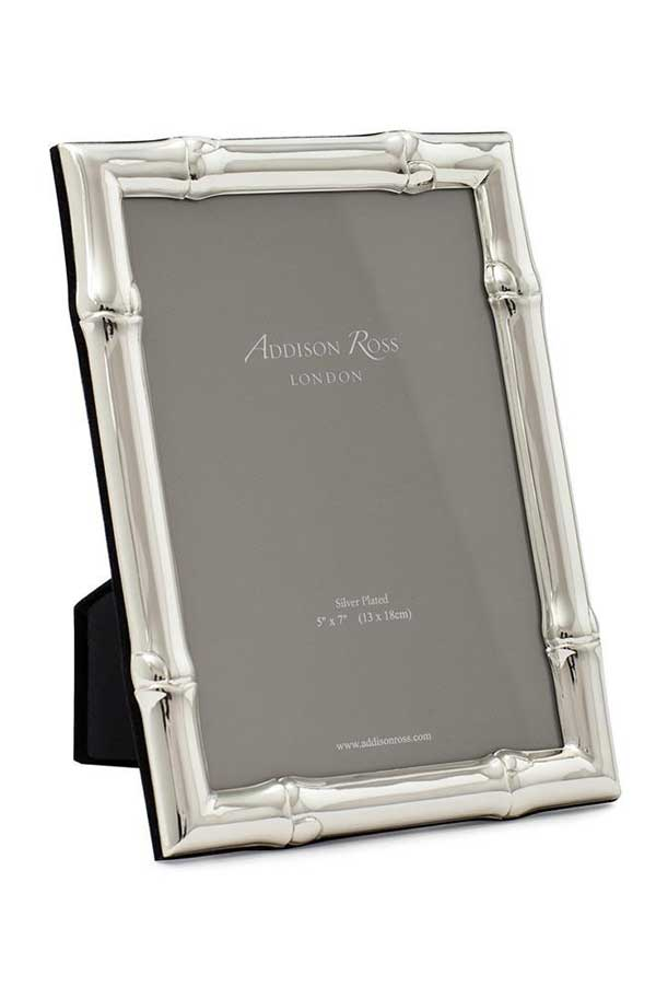 Wide Bamboo Silver Plated 5X7 Frame