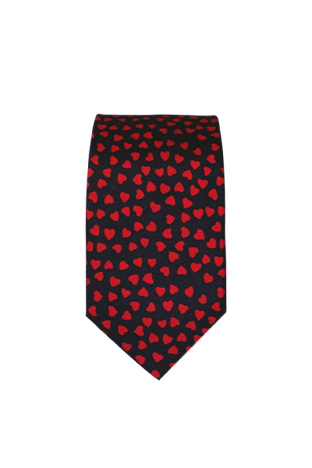 Tie - Red Hearts