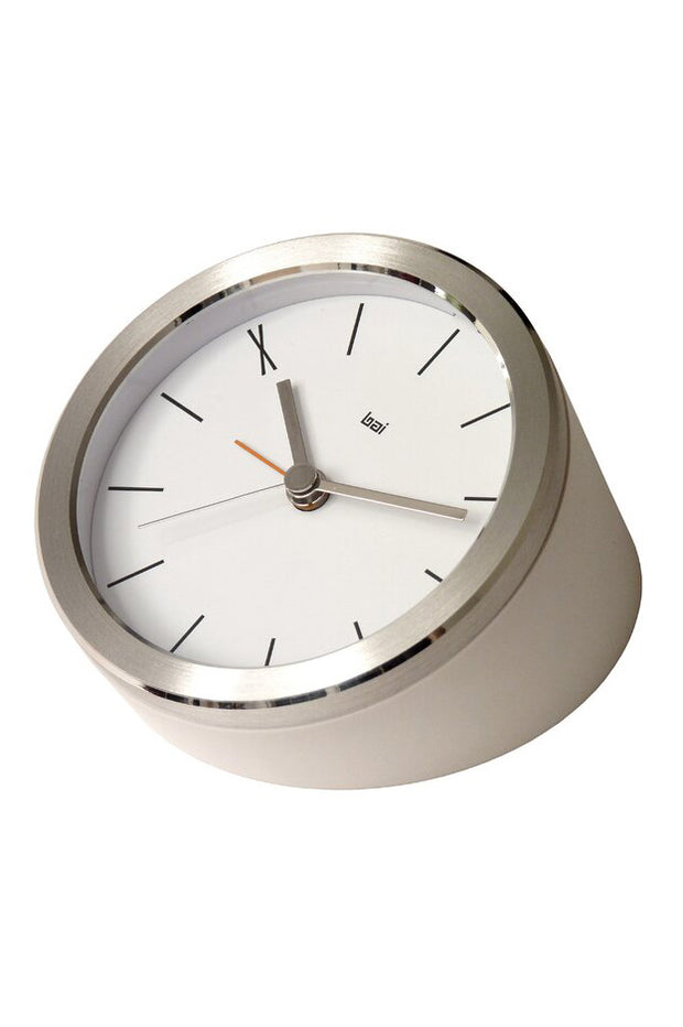 Silver Executive Alarm Clock