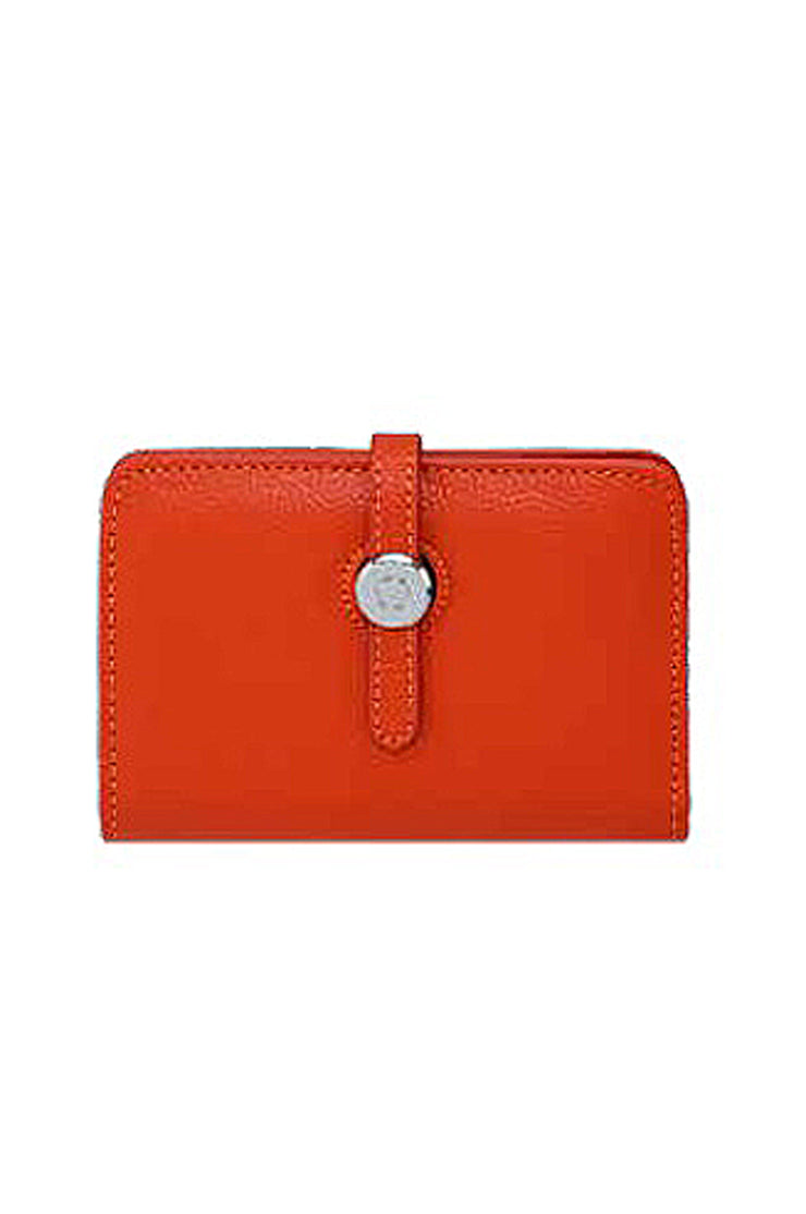Leather Wallet With Closure - available in three colors
