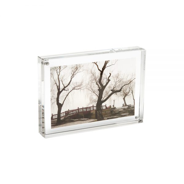 Lucite Magnetic Picture Frame - 4 x 6