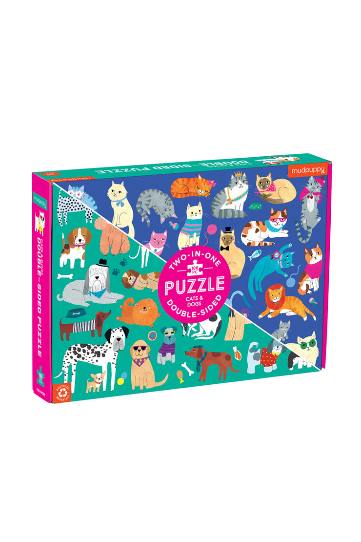 Puzzle - Cats & Dogs Double Sided