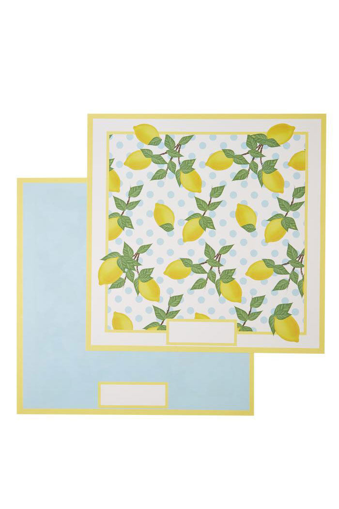 Clara Williams Home - Positano Lemon Placemats Set of 12