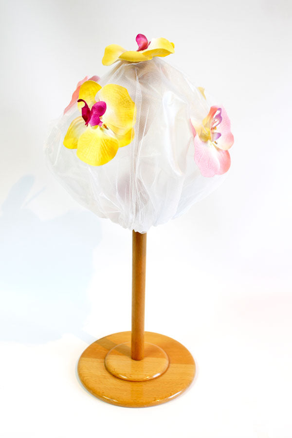 Shower Cap in Signature Pink & Yellow Orchid