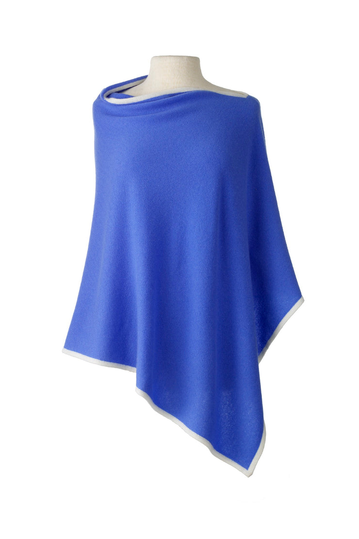 Cashmere Poncho Cape - available in multiple colors
