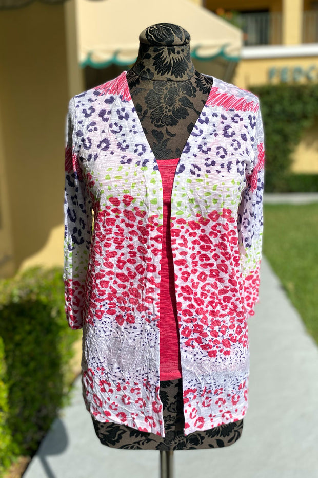 Animal Paw Print Cardigan and Tank Set - available in two styles