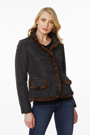 Mink Trimmed Jacket