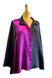 Emmelle Easy Drape Hi Lo Blouse - available in two colors
