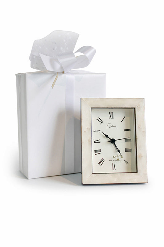 White Rectangular Alarm Clock