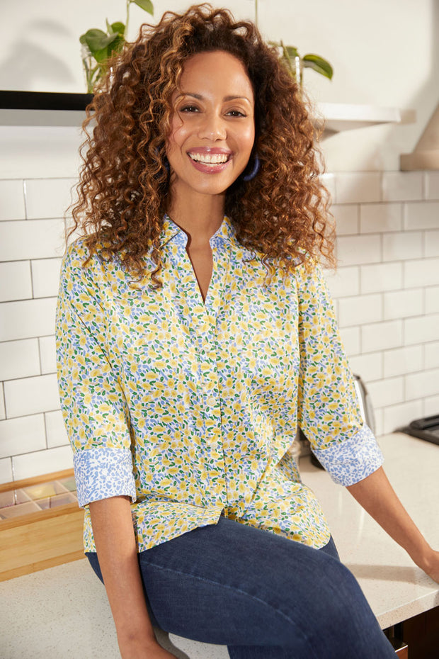 Foxcroft Mary Non-Iron Monet Shirt