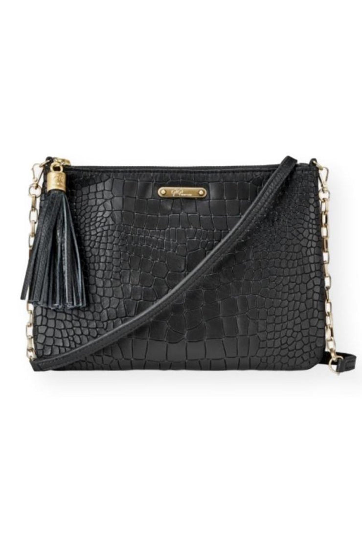 Leather Clutch Bag With Crossbody Strap