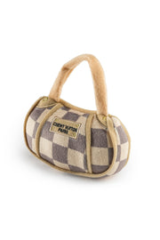 Checker Chewy Vuiton Purse Dog Toy - Small