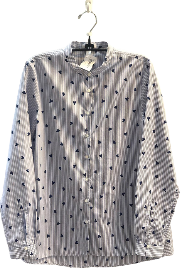 Robert Friedman 'Hearts' Button Down Eyelet Blouse