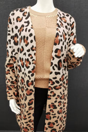 Dip Dye Leopard Cardigan Sweater - available in two colors