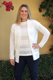 Kinross Shadow Stripe Tee and Cardigan Duo - available in three colors