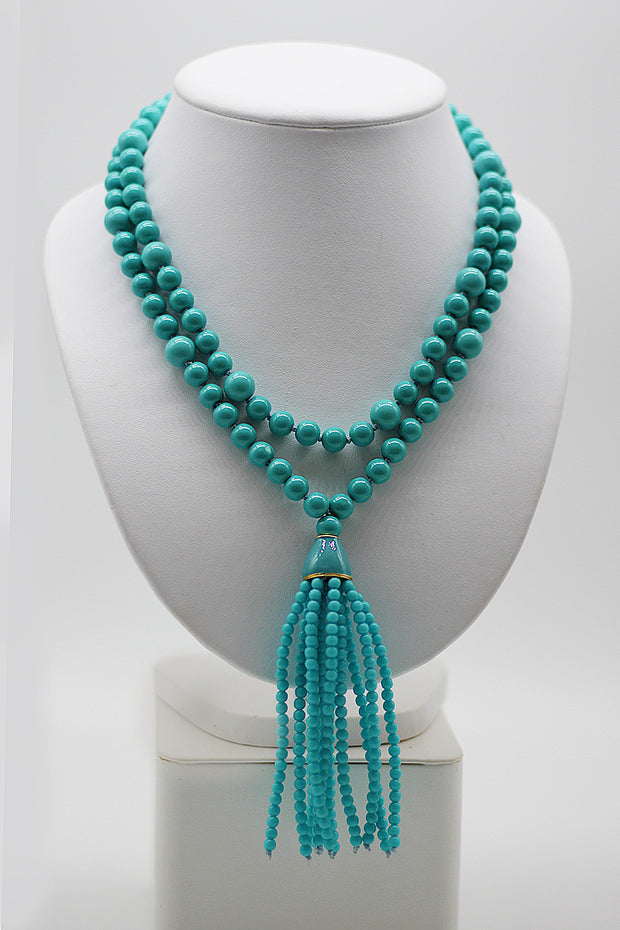 Kenneth Jay Lane Bead & Tassel Necklace