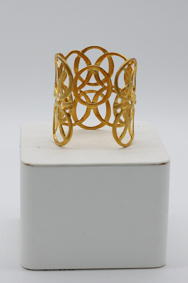 Kenneth Jay Lane Gold Open Circles Bracelet
