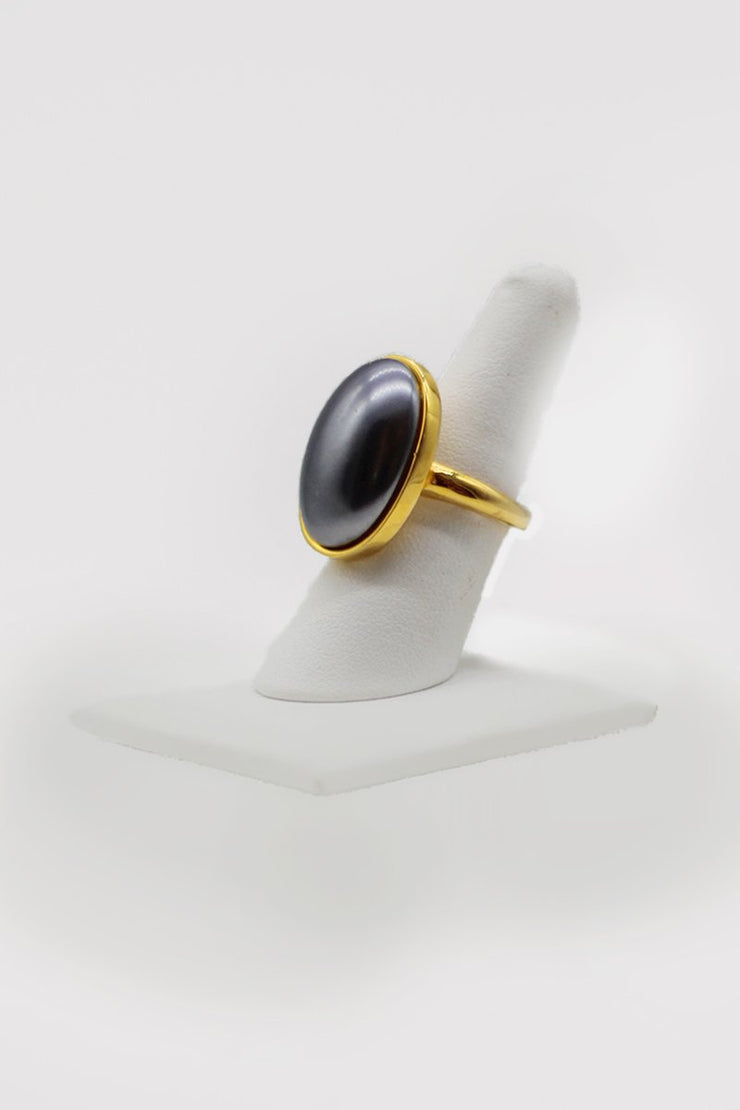 Kenneth Jay Lane Pearl Ring - available in two colors
