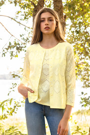 Cardigan Set - Available in Navy & Light Yellow