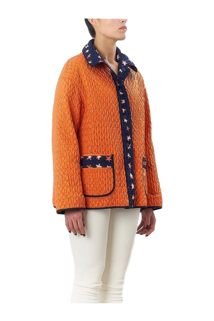 Landi Orange & Navy Reversible Jacket