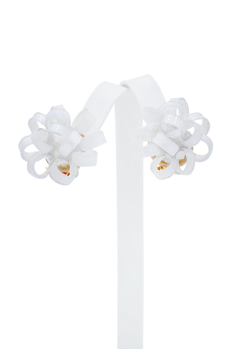 French Gribouille Ribbon Clip Earrings - available in multiple colors