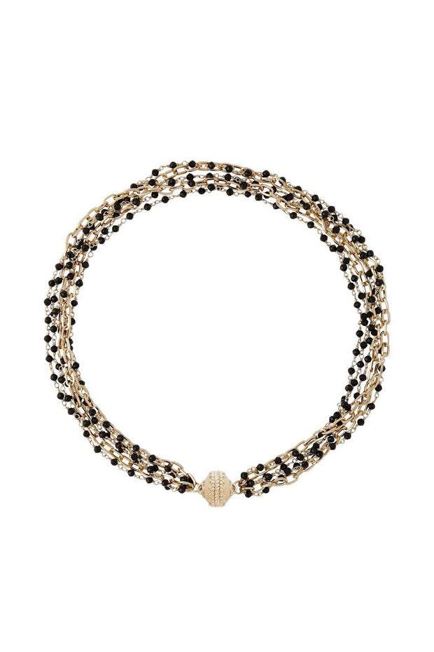 Ashley Spinel Faceted Rhondelle & Chain Necklace
