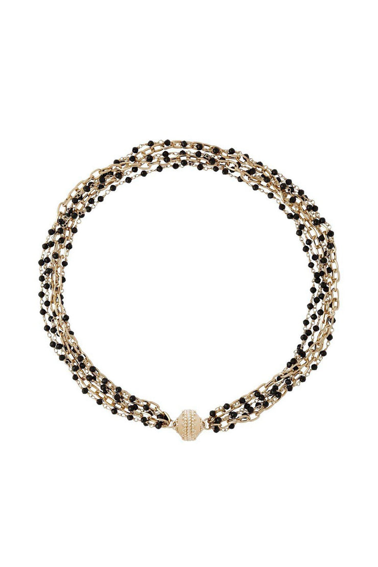 Clara Williams Ashley Spinel Faceted Rhondelle & Chain Necklace