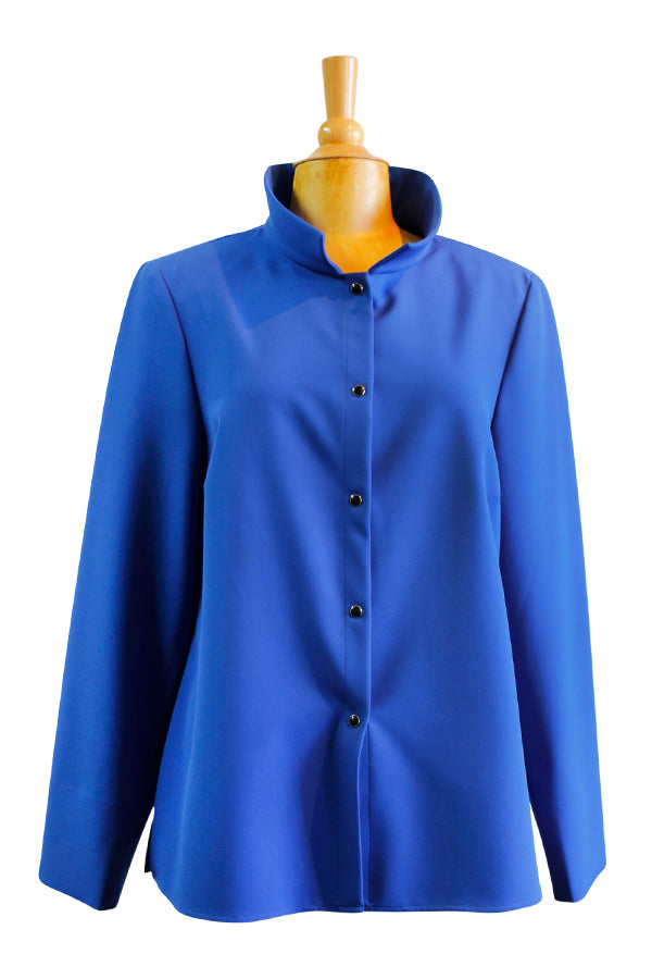 Nina McLemore Stretch Travel Jacket in Blue Jewel