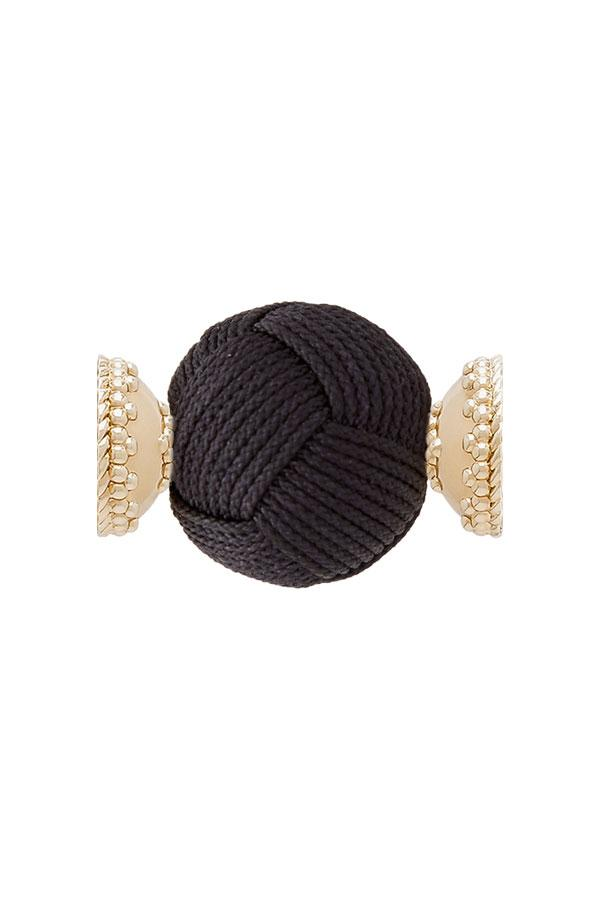 Clara Williams Black Woven Knot Centerpiece