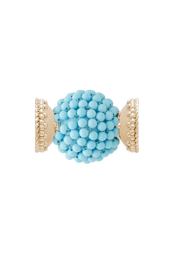 Clara Williams Caviar Turquoise Centerpiece