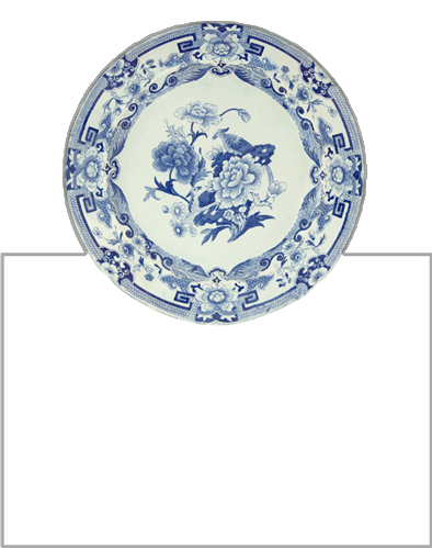 Caspari Placecards (Set of 8) - Blue & White