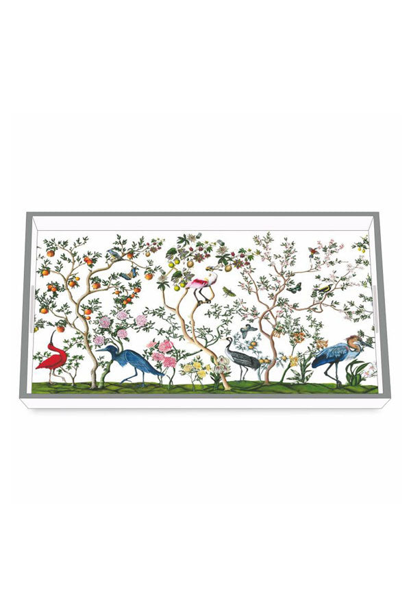 Birds & Branches Wooden Lacquered Tray