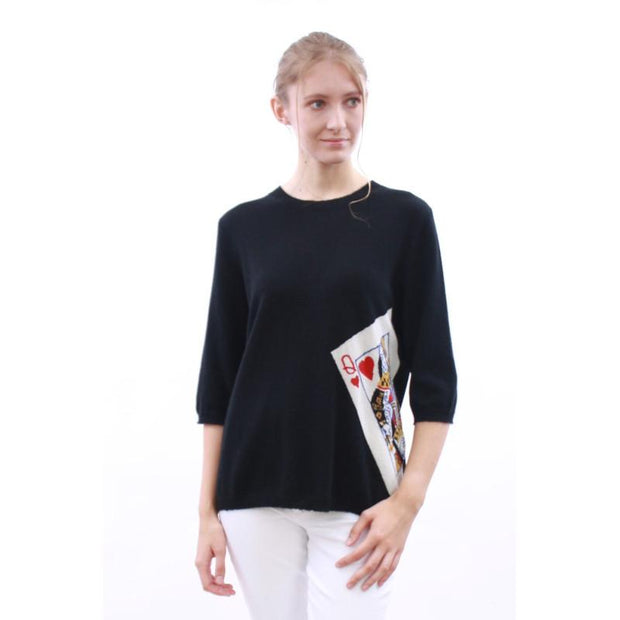Queen Heart Intarsia Sweater