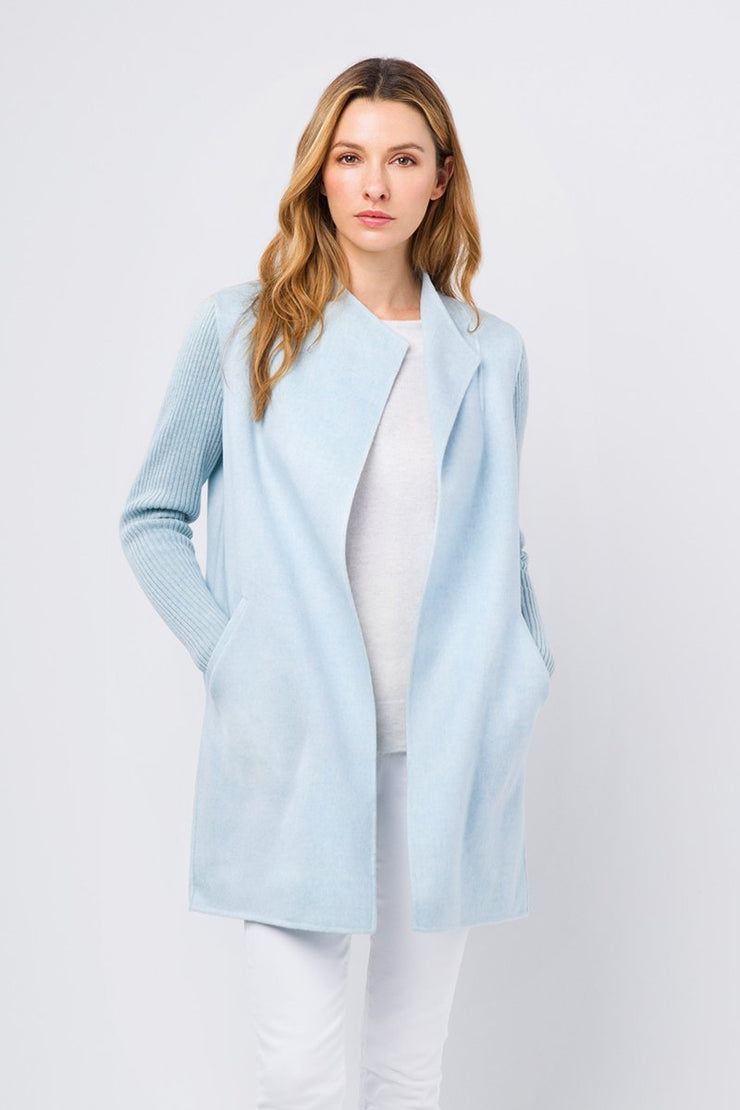Kinross Rib Sleeve Coat - available in multiple colors