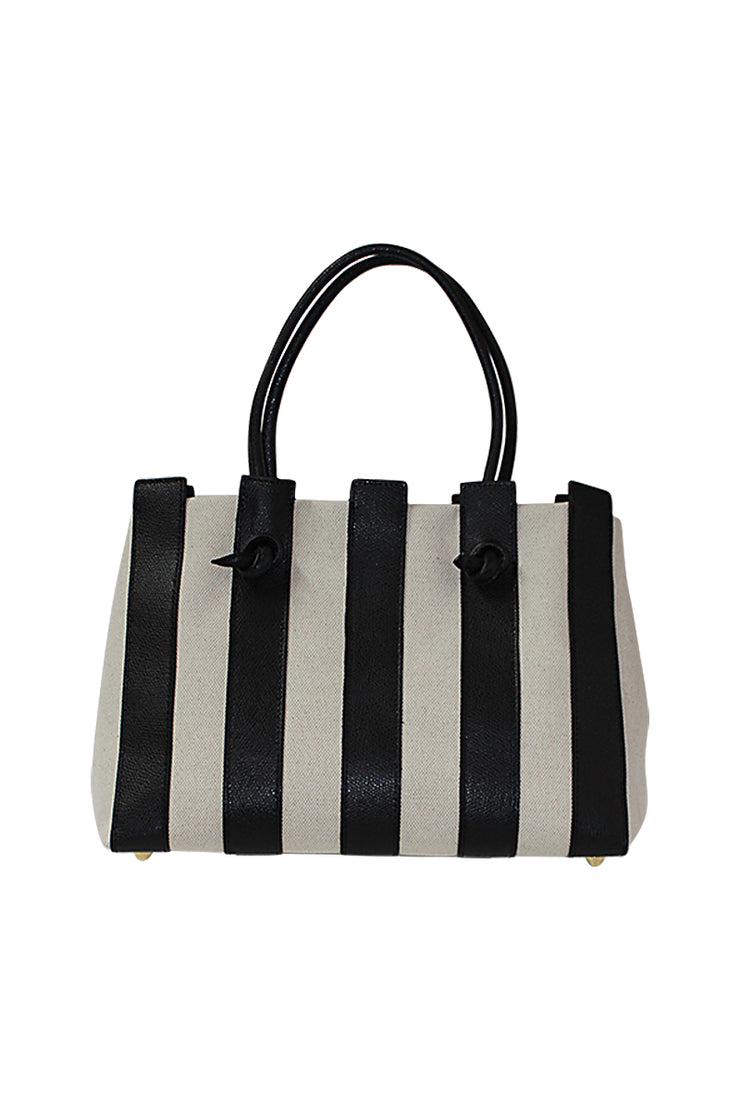 Italian Mini Canvas & Leather Handbag - available in multiple styles