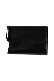 Stefano Bravo Large Patent Leather Bag in Black
