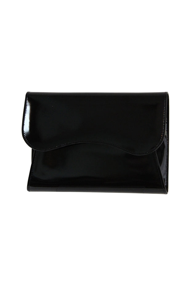 Italian Large Patent Leather Clutch Bag