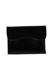Small Patent Leather Bag - Black