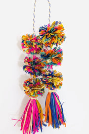 Waterfall Confetti Pompom Handbag Accessory
