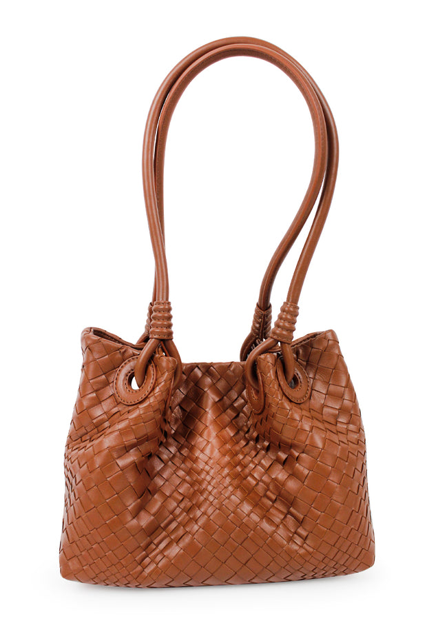 Woven Italian Leather Handbag - available in two colors!