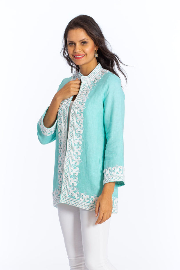 Sulu Kassandra Linen Long Sleeve Jacket - available in multiple colors