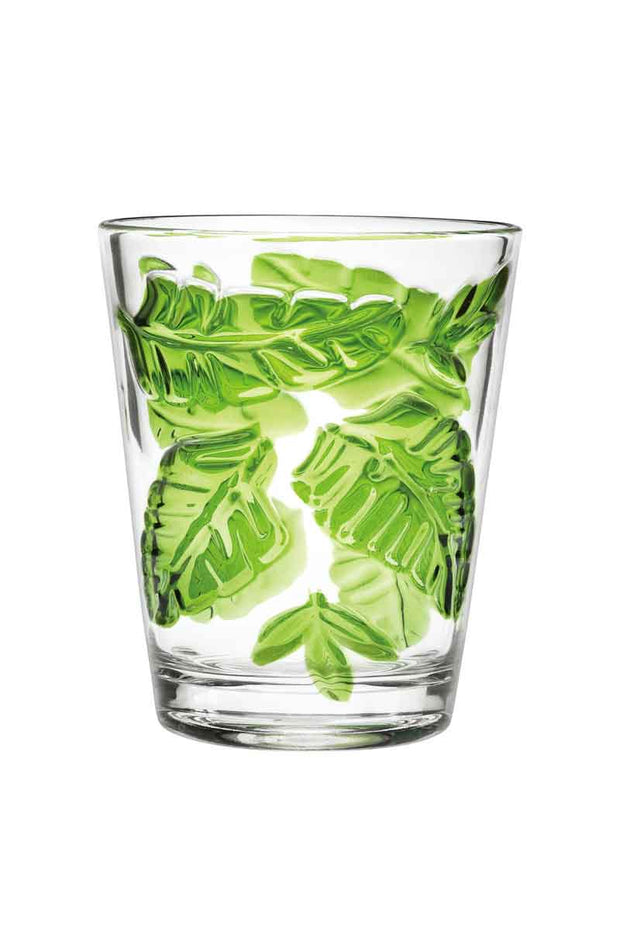 Tropical Leaves Tumblers- Set of 4