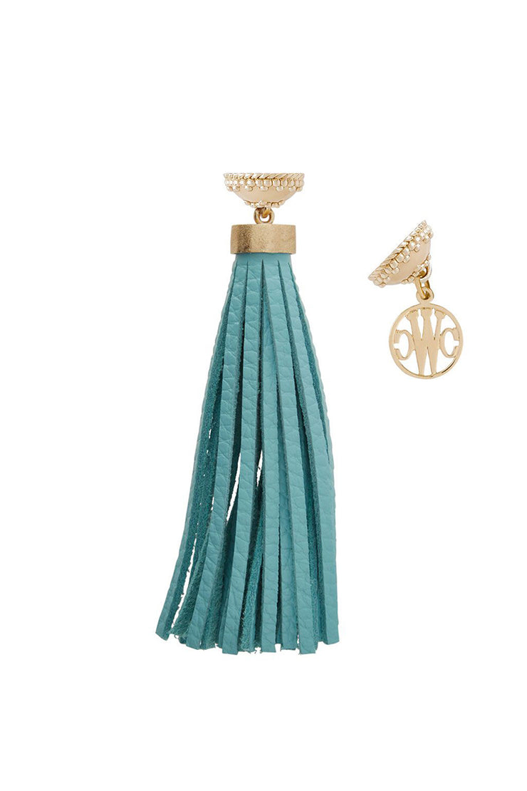 Clara Williams Baja Teal Leather Tassel