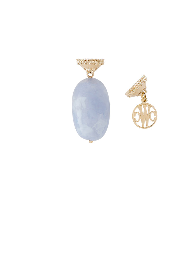 Clara Williams Blue Chalcedony Nugget Tag
