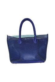 Large Perforated Italian Leather Tote - available in multiple colors